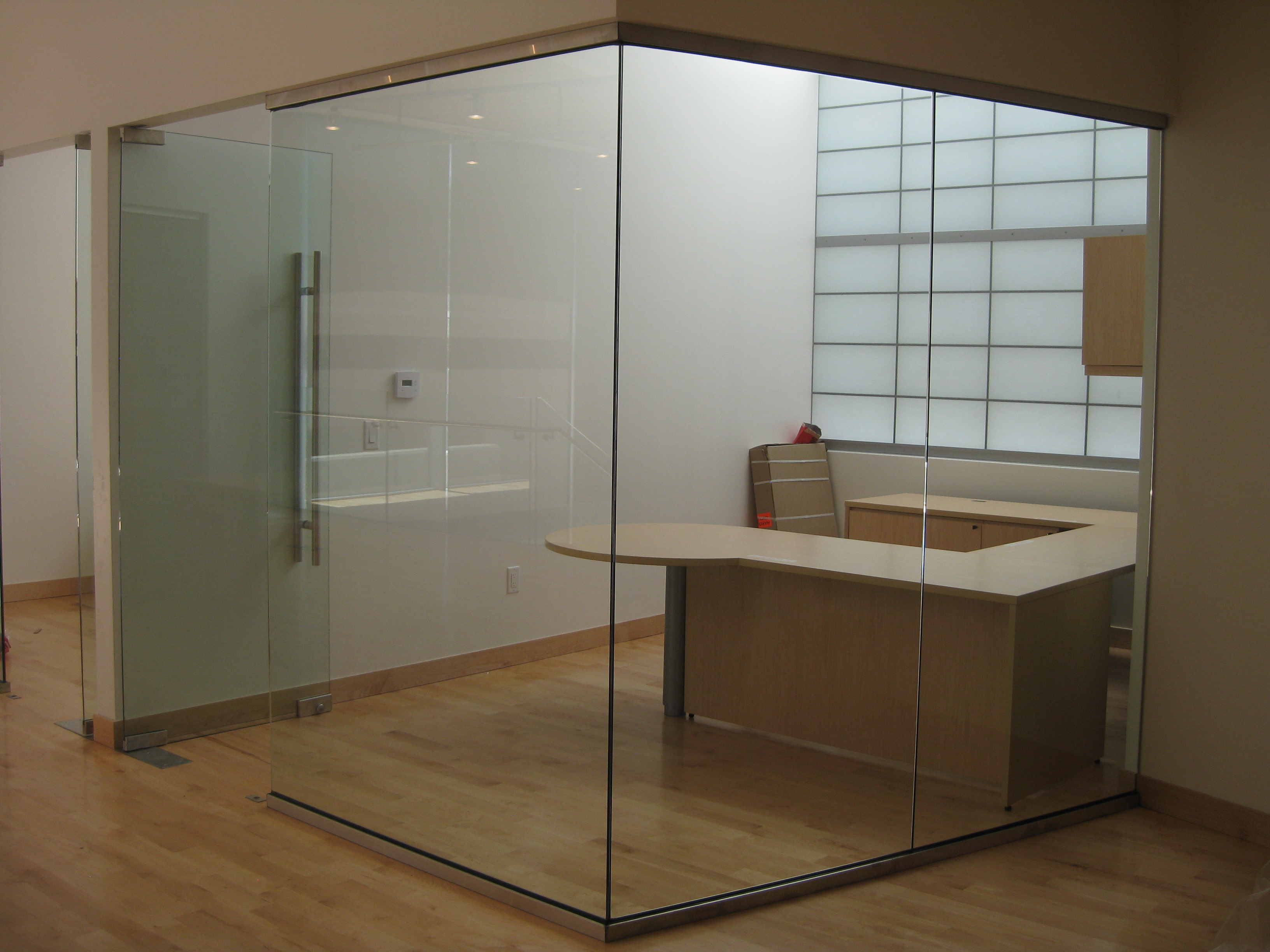 glass partition office walls ideas glass partition office