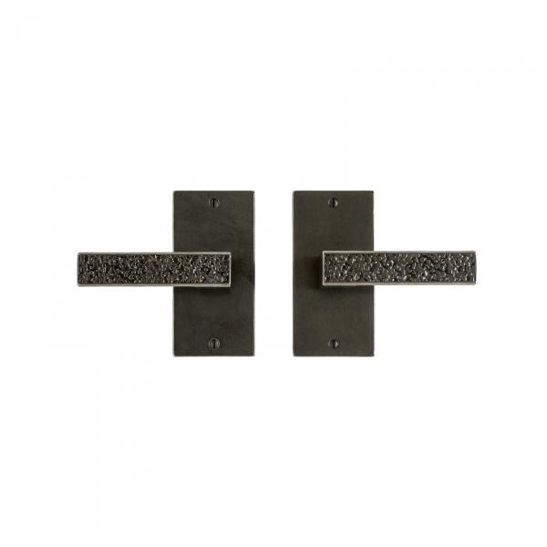 TROUSDALE PASSAGE SET WITH TROUSDALE LEVER IN WHITE BRONZE DARK