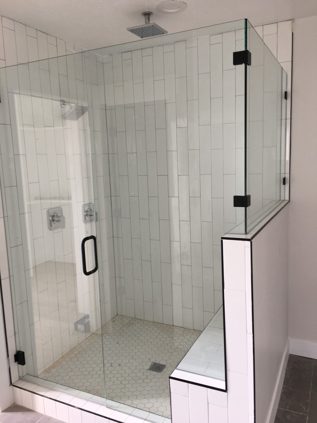 Black and White Euro Shower